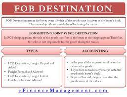 fob destination meaning types