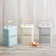metal kitchen compost bin