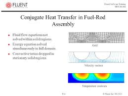 conjugate heat transfer in fuel rod assembly