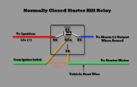 starter interrupt normal closed starter kill relay