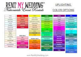 Uplighting Color Chart Uplighting