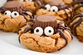 Image result for peanut butter spider cookies