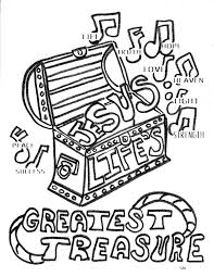 Small Picture Treasures In Heaven Coloring Coloring Pages