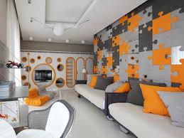 Orange Bedroom Decor Impressive Grey And Orange Bedroom Designs Interior Home Design By