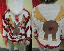Homemade Custom 3-D Hysterical Reindeer Tacky Ugly Christmas