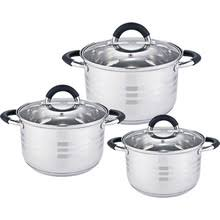 <b>Набор посуды 6</b> предметов: 3 кастрюли Webber BE-623/6 со ...