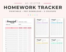 Student Assignment Planner Printable Assignment Planner Etsy