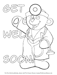 Cool Idea Get Well Printable Coloring Pages 4 Free Printable Get
