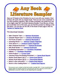 Any bookliteraturesampler