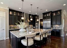 kitchen dark cabinets light countertops granite