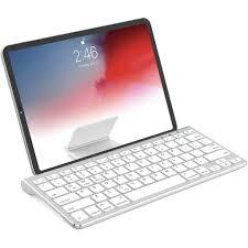 Bàn phím Bluetooth không dây có đế trượt Tương thích với Apple iPad iPhone  Samsung Android Máy tính bảng Windows Bàn phím điện thoại - Bạc