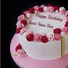 write name on cute baby birthday cake
