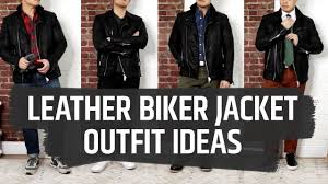 4 ways to wear a black leather biker jacket