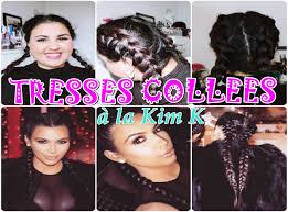 Tutoriel Coiffure N 5 Tresses Coll Es A La Kim Kardashian