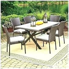 wilson fisher patio furniture and wicker set 40 square tile top table wilson fisher patio furniture