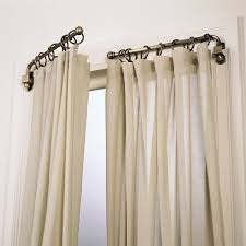 Living Room Curtain Rods Accessories Swing Arm Curtain Rod Lowes In Marvelous Window