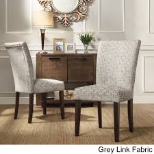 inspire q catherine print parsons dining side chair set of 2 grey link