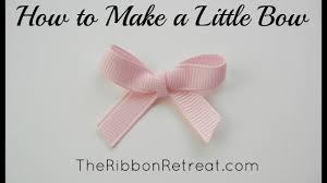 How to Make a Little <b>Bow</b> - <b>TheRibbonRetreat</b>.com - YouTube
