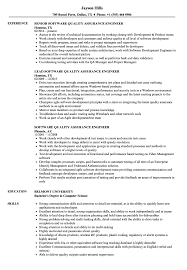 Software Qa Engineer Resume Sample Software Quality Assurance Engineer Resume Samples Velvet Jobs 24