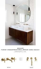 kohler purist widespread wall mount sink faucet