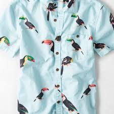 Patterned Button Up Shirts Beauteous AEO Men's Patterned Short Sleeve Button From American Eagle