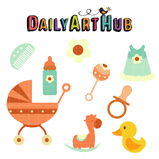 Baby Things Clipart Cute Baby Things Clip Art Set Daily Art Hub Free Clip Art Everyday