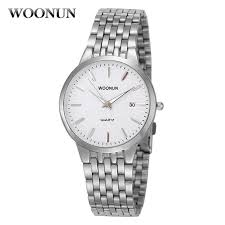 popular watches for skinny wrists buy cheap watches for skinny woonun top brand luxury watches men waterproof shockproof silver steel quartz men watches ultra thin wrist