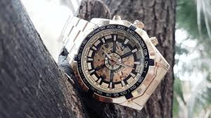 Cheapest <b>Automatic Mechanical Watch Luxury</b> Gold Dial Without ...