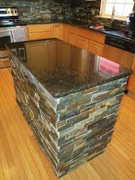 Granite Kitchen Island Kitchen Island After Granite And Slate Tile Installation
