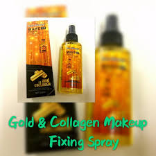 gold collagen makeup fixing spray by kiss beauty