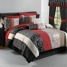 red and gray bedding urban bedroom ideas with asian bedding sets queen black white red
