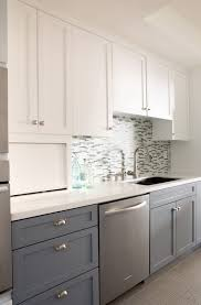 Two Tone Kitchen Cabinets Gray And White Home Design Ideas Designs