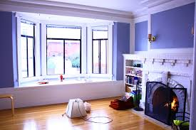 living blue wall paint wooden flooring bay window bedroom decorating tritmonk diy project for home