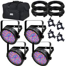 Chauvet Par 56 4 Light System Amazon Com Chauvet Slimpar 56 Rgb Wash Light 4 Pack W