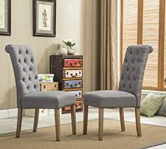 image unavailable image not available for color roundhill furniture habit grey solid wood tufted parsons dining