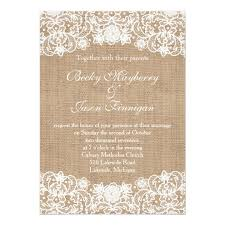 Burlap And Lace Wedding Invitations Rustic Country Burlap Lace Wedding Invites Zazzle Com
