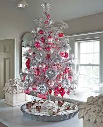 Miniature White Christmas Tree