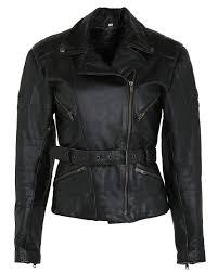 vintage womens leather belstaff biker jacket m image