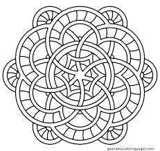 Small Picture Printable Mandala Abstract Simple Adult Coloring Pages Mandala