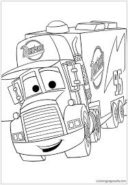 Cartoon car pictures to colour. Disney Cars Mack Coloring Pages Cartoons Coloring Pages Free Printable Coloring Pages Online