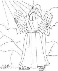 Baby Moses Coloring Page Printable Pages Excellent School Free