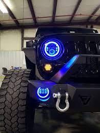 Jeep Led Headlights And Led Fog Lights Color Changing Jeep Lights Jeep Wrangler Headlights Jeep Wrangler