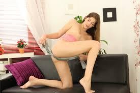 Brunette Elis Gilbert wets herself in Yoga Pants 1 of 2