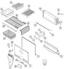 Maytag top mount refrigerator parts model mtb2156ges sears partsdirect