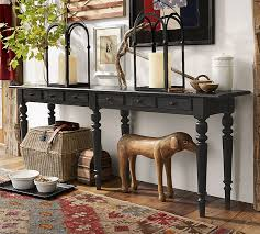 Fine Sofa Table Decor Pottery Barn O For Decorating Ideas