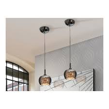 art deco shimmered crystal dome smoked glass pendant light