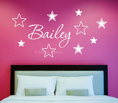 on personalised metal wall art uk with name in stars personalised wall art sticker sticker station
