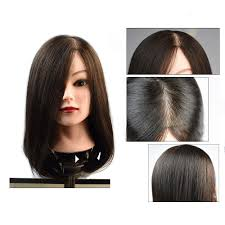 old street mannequin head with really human hair for beauty salon hairdressin practice training 20inch natural black