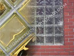 how to replace broken glass block window