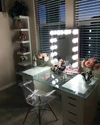 glass vanity table with mirror glass vanity makeup table images decoration ideas with regard to designs